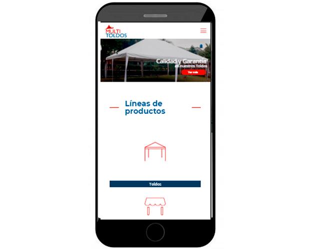 desarrollo de sitio web Multitoldos responsive