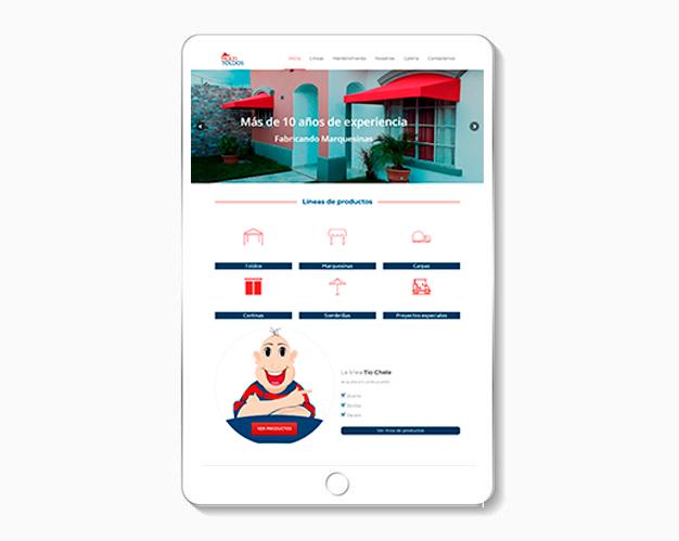 desarrollo de sitio web profesional Multitoldos responsive