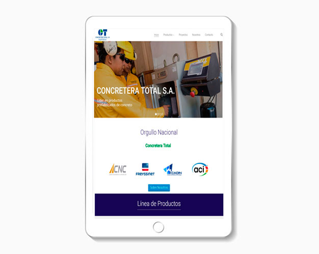 diseño de sitios web para tablets