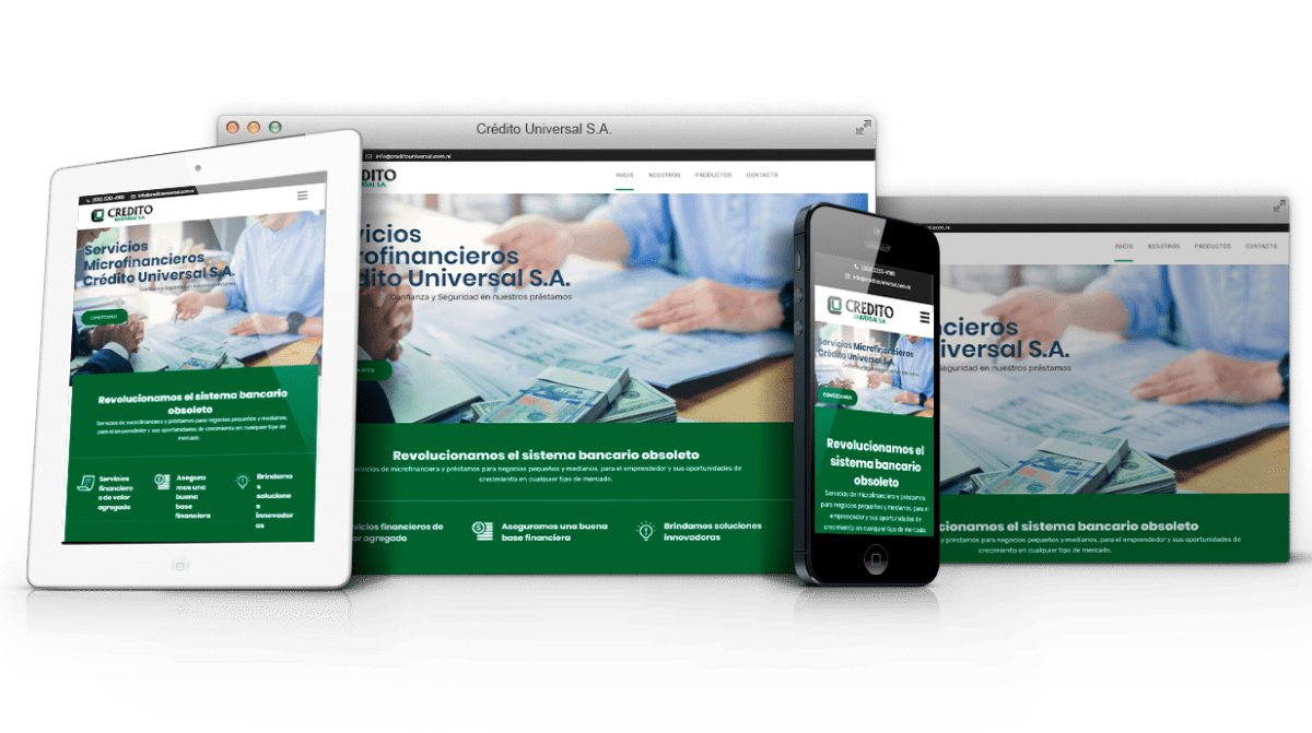 Diseño sitio web Credito Universal