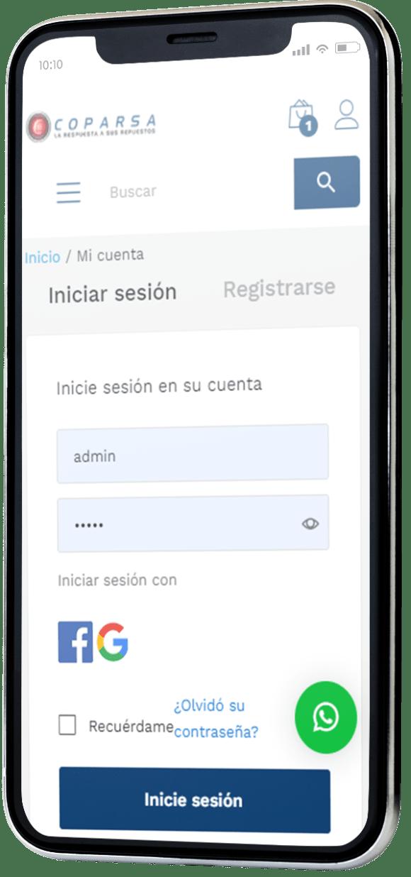 desarrollo web dispositivo movil coparsa nicaragua